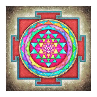 Sri Yantra - Artwork VII-VI Canvas Print