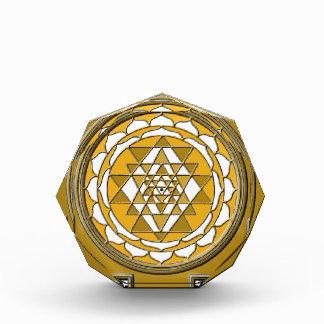 Sri Yantra Bronze Acrylic Award