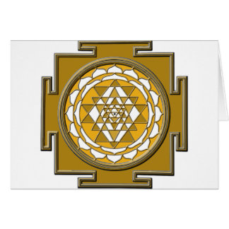 Sri Yantra Bronze Card