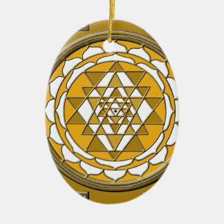 Sri Yantra Bronze Ceramic Ornament