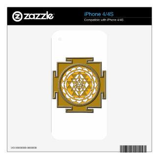 Sri Yantra Bronze iPhone 4 Decal