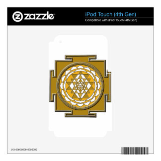 Sri Yantra Bronze iPod Touch 4G Skin