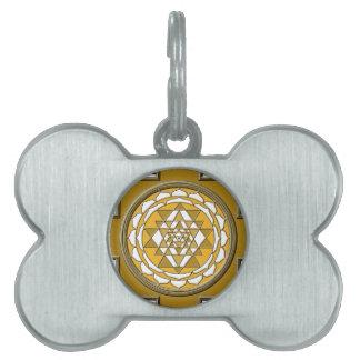 Sri Yantra Bronze Pet ID Tag