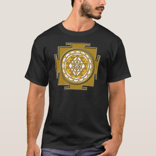 Sri Yantra Bronze T_Shirt