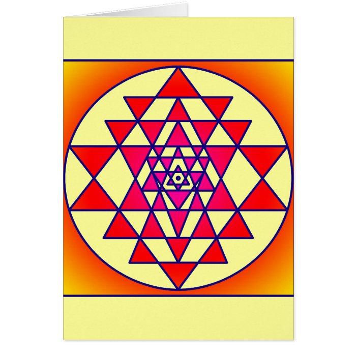 Sri Yantra Card