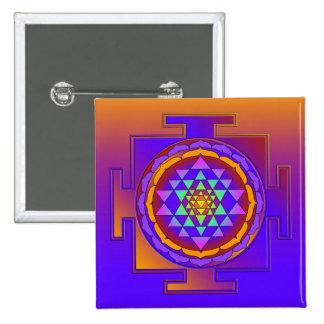 SRI YANTRA coloreado por completo + sus ideas Pin Cuadrado