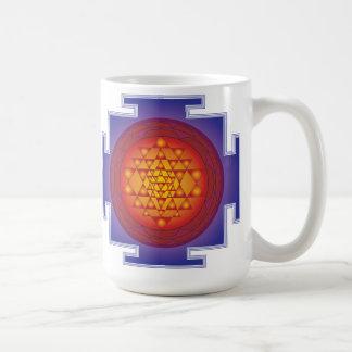 SRI YANTRA - FLAME CLASSIC WHITE COFFEE MUG