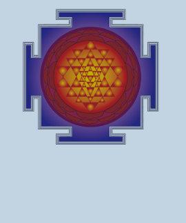 Sri Yantra - Flame Tee Shirts