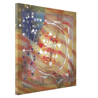 Sri Yantra for America - Wrapped Canvas