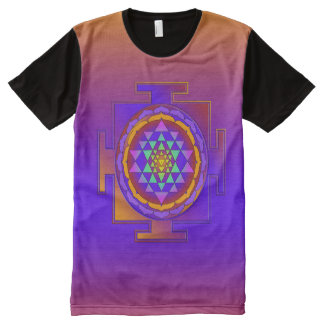 SRI YANTRA full colored + your backgr. & ideas All Over Print Shirt