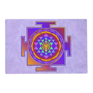 SRI YANTRA full colored + your backgr. & ideas Placemat