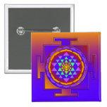SRI YANTRA full colored + your ideas 2 Inch Square Button