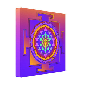 SRI YANTRA full colored + your ideas Canvas Print