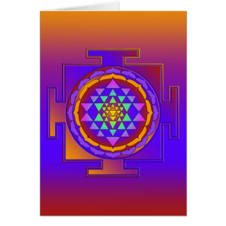 SRI YANTRA full colored + your ideas Cards