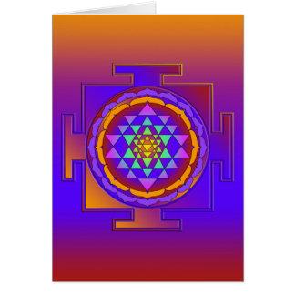 SRI YANTRA full colored + your ideas Card
