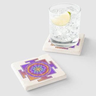 SRI YANTRA full colored + your ideas Stone Coaster