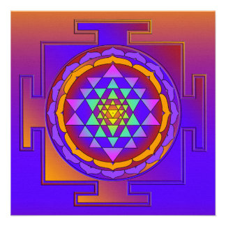 SRI YANTRA full colored + your ideas Custom Invitation