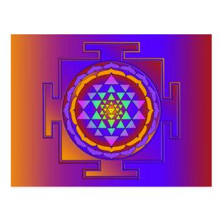 SRI YANTRA full colored + your ideas Postcard