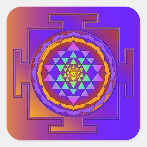 SRI YANTRA full colored  your ideas Square Sticker
