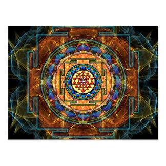 Sri Yantra - geometría sagrada Postal