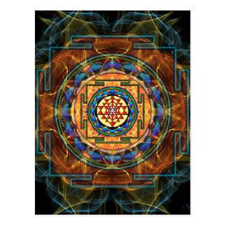 Sri Yantra - geometría sagrada Tarjeta Postal