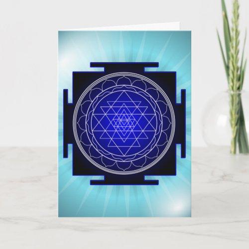 sri yantra greeting card