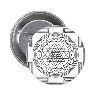 Sri Yantra Mandala Buttons