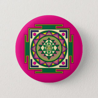 Sri Yantra Mandala Button