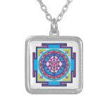 Sri Yantra Mandala Square Pendant Necklace