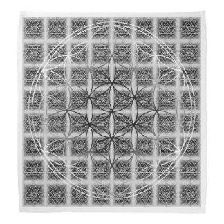 Sri Yantra Pattern with Flower of Life Bandana
