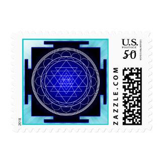 sri yantra postage stamp