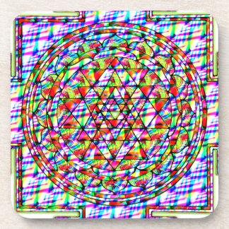 Sri Yantra Psychedelic Drink Coaster
