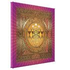 Sri Yantra Purple Sun - Wrapped Canvas