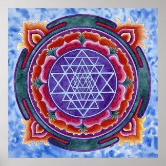 Sri Yantra round motif Poster