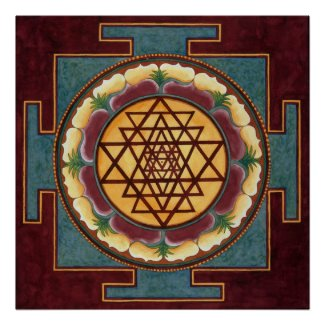 Sri Yantra water color Posters