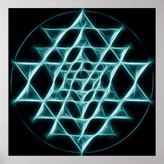 Sri Yantra - Web of Light Poster