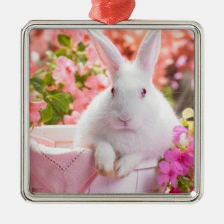 Sring Bunny Rabbit Metal Ornament