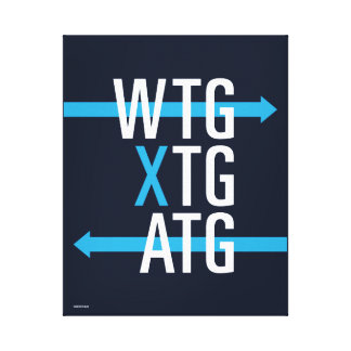 SRP Acronyms wall print (blue)