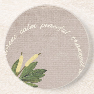 SRPL SERENE CALM PEACEFUL TRANQUIL FLORL COUNTRY S DRINK COASTER
