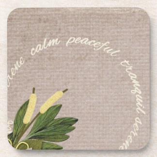 SRPL SERENE CALM PEACEFUL TRANQUIL FLORL COUNTRY S COASTER