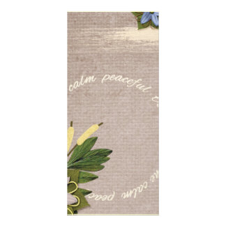 SRPL SERENE CALM PEACEFUL TRANQUIL FLORL COUNTRY S RACK CARD