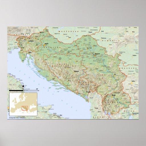 Srpski del mapa de YU Posters