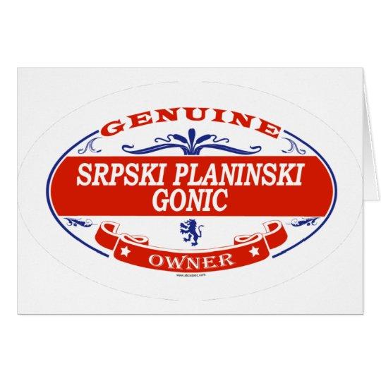 SRPSKI PLANINSKI GONIC_ CARD