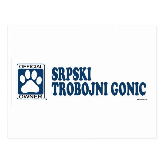SRPSKI TROBOJNI GONIC_blue Postcard