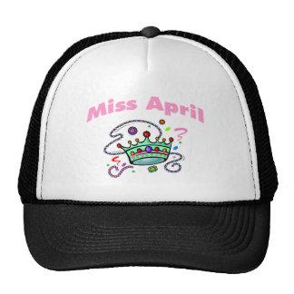 Srta. abril (2) gorro de camionero