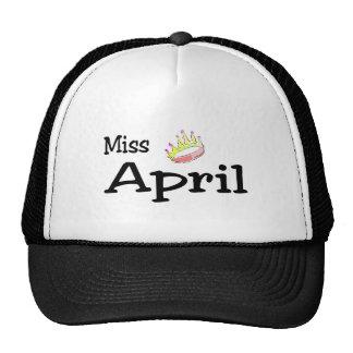 Srta. abril gorros bordados