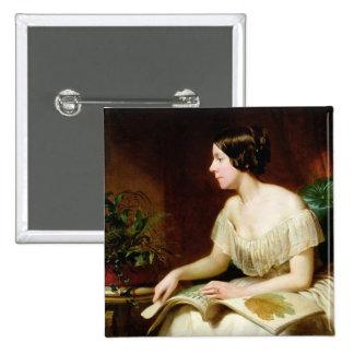 Srta. Anne Pratt, el botánico famoso Pin Cuadrado