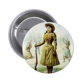 Srta. Annie Oakley Pin Redondo De 2 Pulgadas