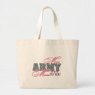 Srta. Army Mom Bolsa Tela Grande