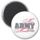 Srta. Army Mom Imán De Nevera